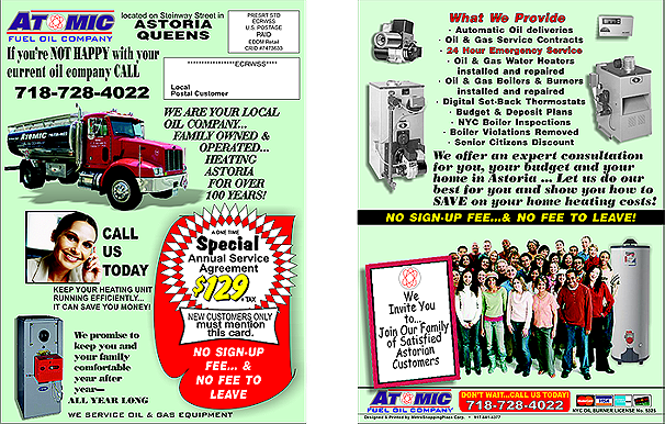 Atomic Fuel Oil Company Heating Queens Brooklyn Generators Boilers Emergency Service Local